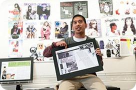 FIDM Graphic Design School Student Shows His Work