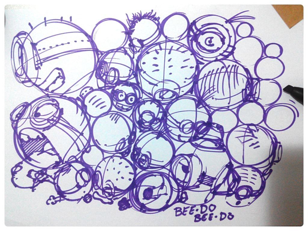 Train yourself drawing things you have fun with like the Minions! | TIP45