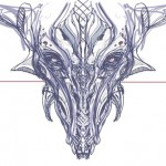 Draw a dragon with the symmetry tool | Sketchbook pro |TIP62