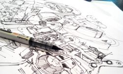 Study mechanical pieces for credible Concept art engines |TIP88