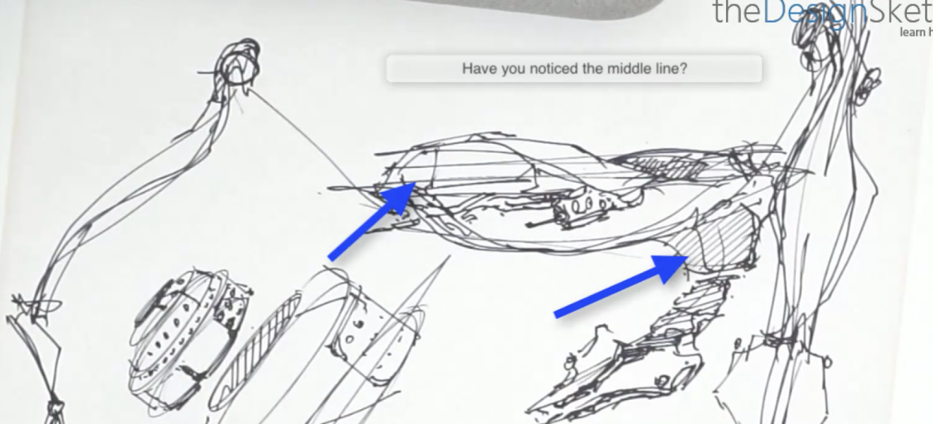 "How to get a symmetrical sketch in perspective ? Use the ""Middle line"" 