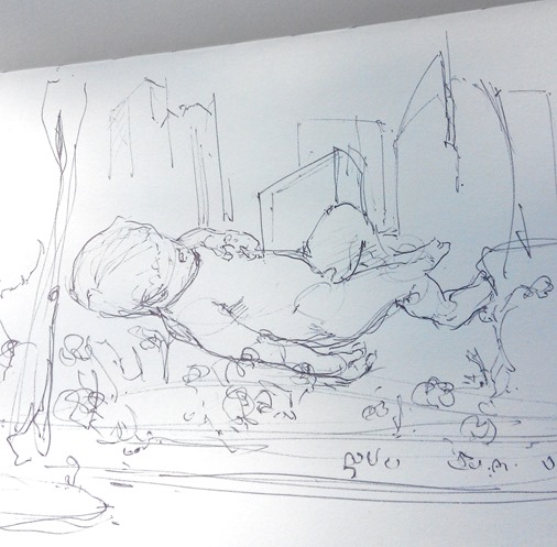 giant-floating-baby-singapore-marina-bay-sands-the-design-sketchbook-bw