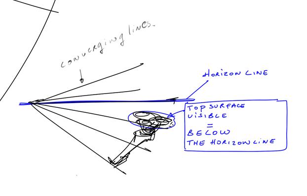 sketching razor-converging lines perspective-sketchbook pro