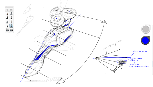 sketching razor-converging lines perspective-sketchbook pro-a