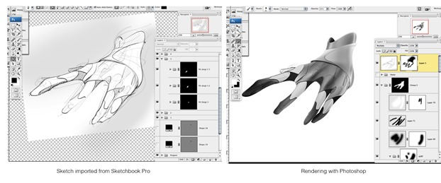 Hand Sketchbook Pro Photoshop