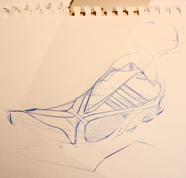 Adidas shoe sketch blue lead