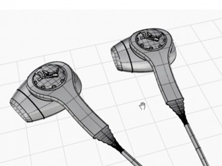 Earbuds-3D-modeling-in-Rhino-by-Kyle-Houchens