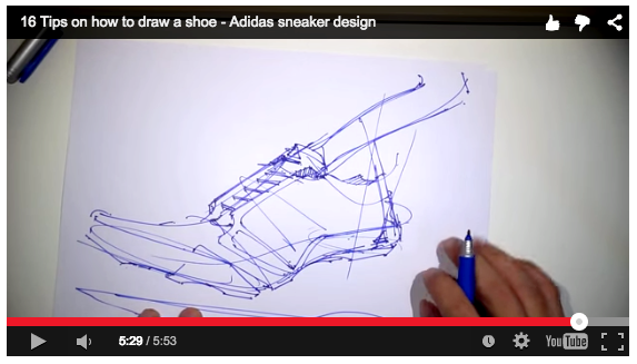 How to draw a shoe - Adidas Sneaker