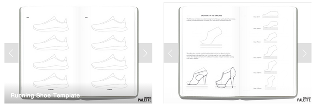 Palette Sneakers  and Stiletto - templates