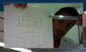 Warp tool on paper illustration