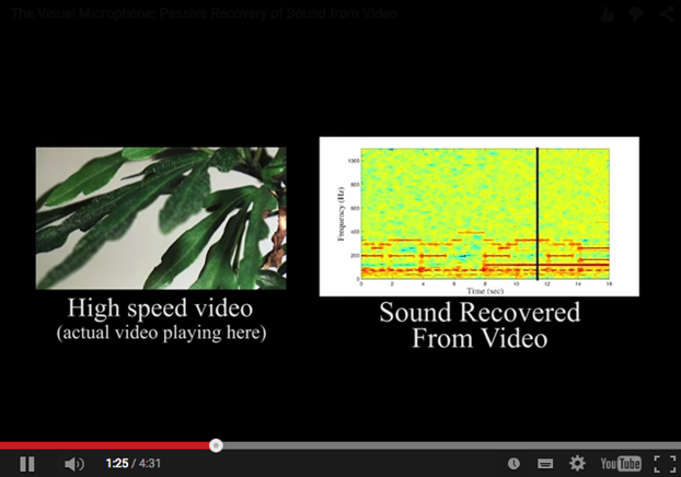 Sound recovery from vibration