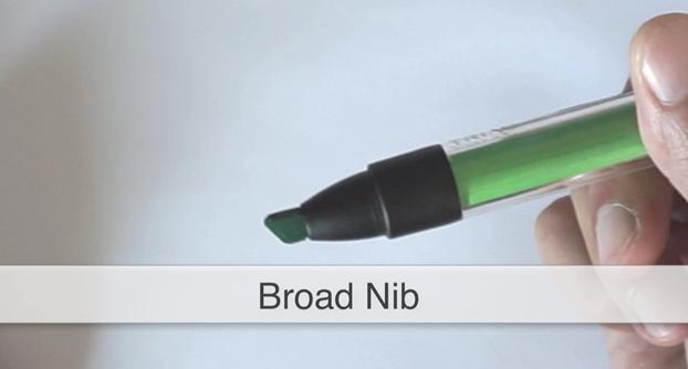 Broad nib ID Sketching with Pantone Tria