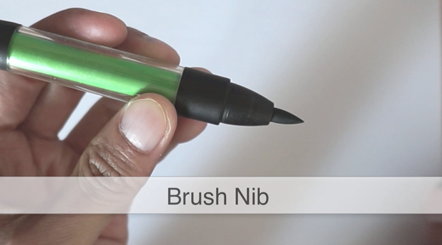 Brush nib ID Sketching with Pantone Tria
