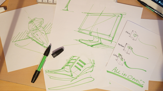 how to sketch with a Pantone Tria marker - ID Sketching