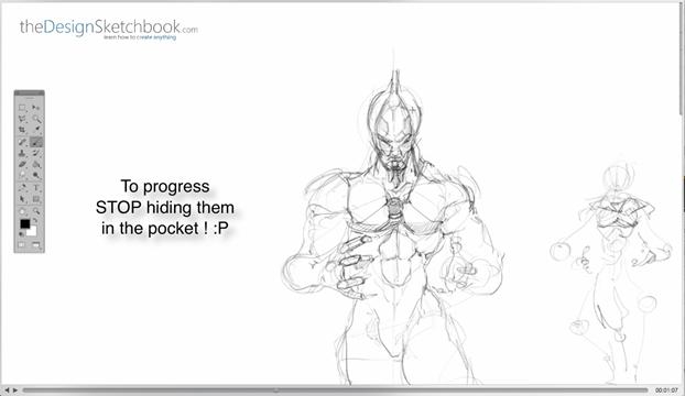 12 Stop hiding hands - Draw them - Concept art