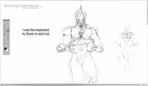 14 Use keyboard to zoom in and out - Concept art