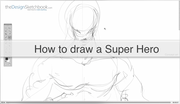 1 How to draw a Super Hero - Concept art