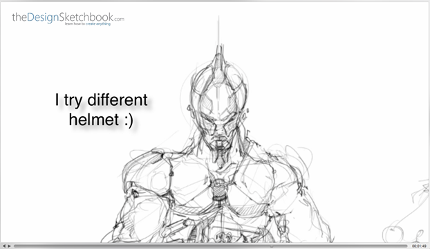 21Trying different helmet - Concept art bis