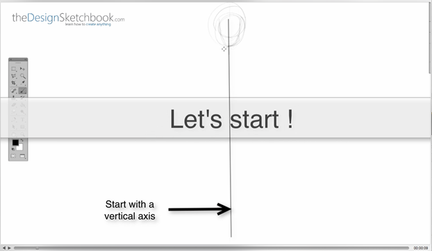 2 Start with a vertical axis - Concept art