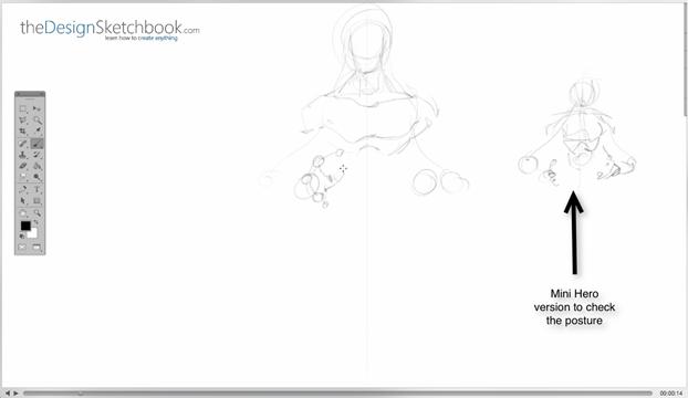 3 Use a mini hero as a quick preview - Concept art