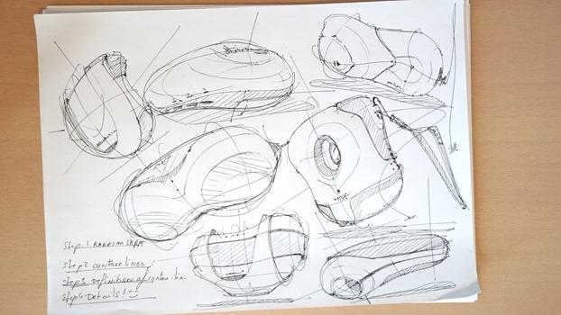 Draw product design - Random shapes - The Design Sketchbook