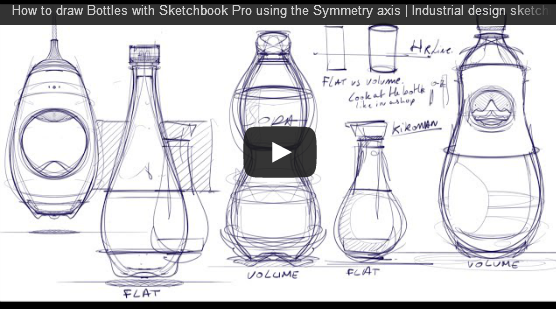 How To Draw Bottles Video Feature The Design Sketchbook