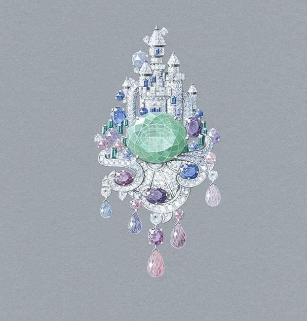 Van Cleef and Arpels - Disney Castle inspired - Illustration