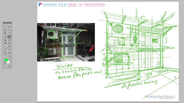 How to draw an hostel - perspective divison technique 13