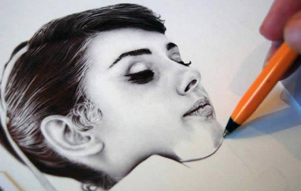 James Mylne Ball point pen artworks