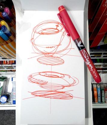 V-Sign Pen red