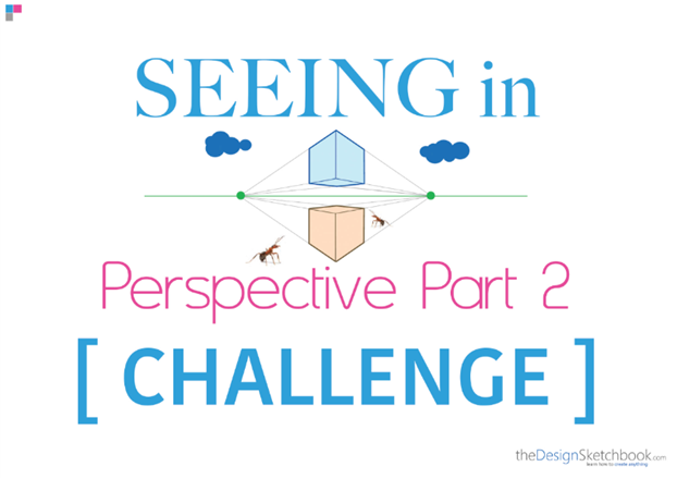 How to draw a cube with 2 point perspective - product design