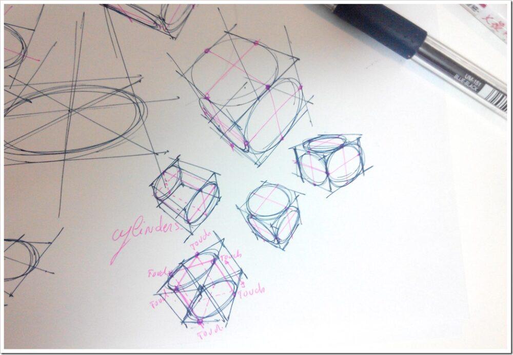 Pen signo Mitsubishi -the design sketchbook test