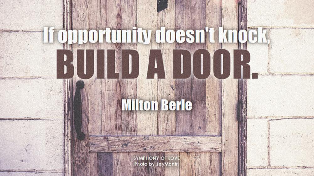 Opportunity - Build a door
