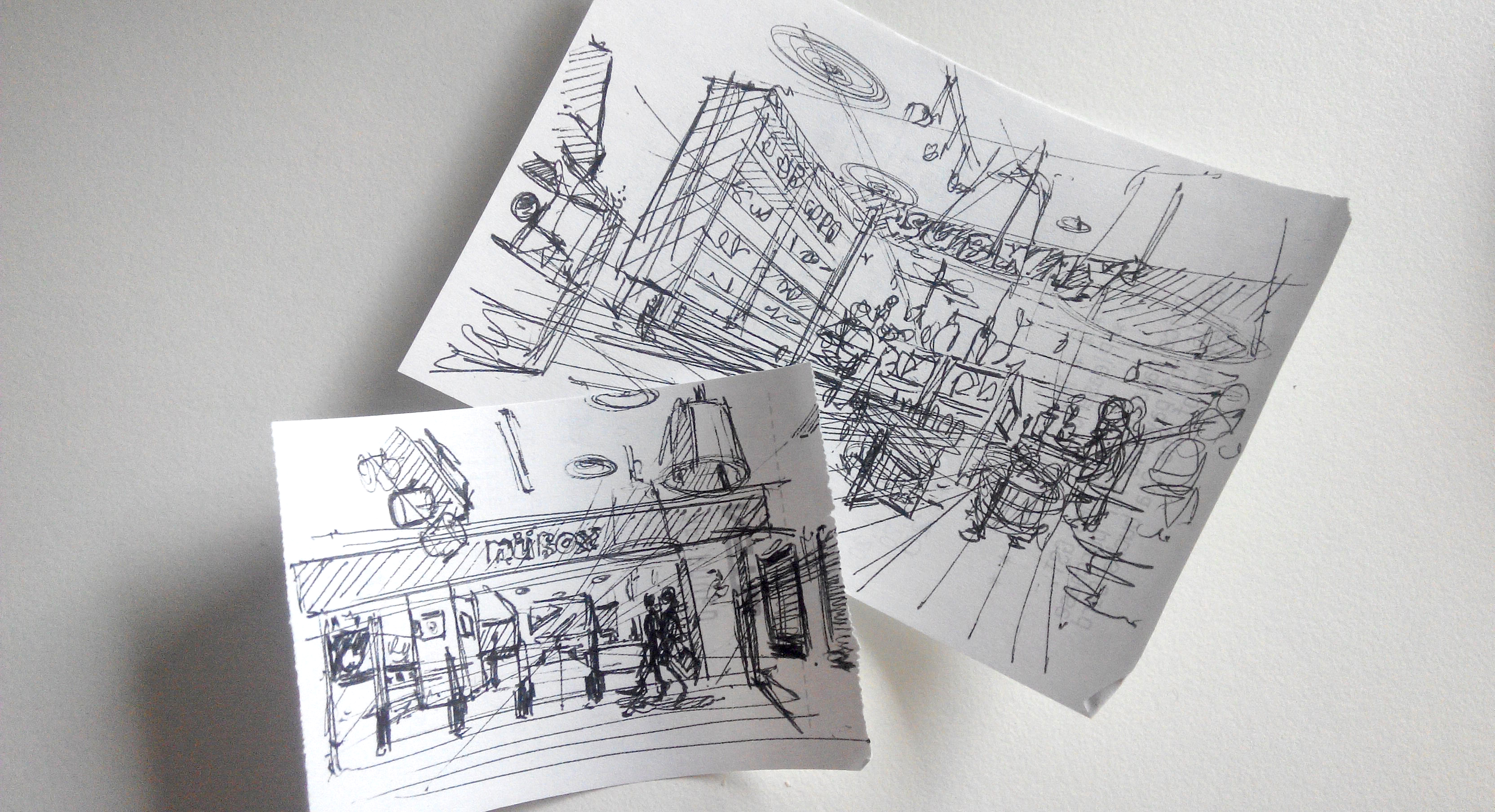 Receipt sketch in a cafe at starbuck - the design sketchbook