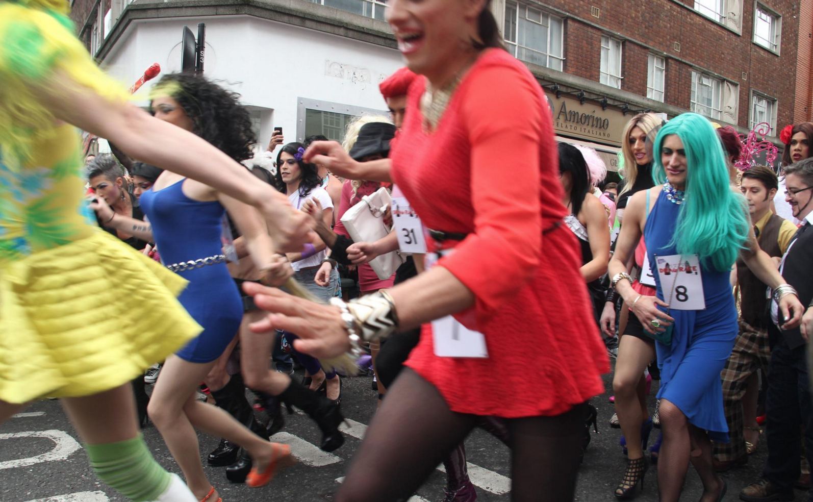 Dragqueen race in london