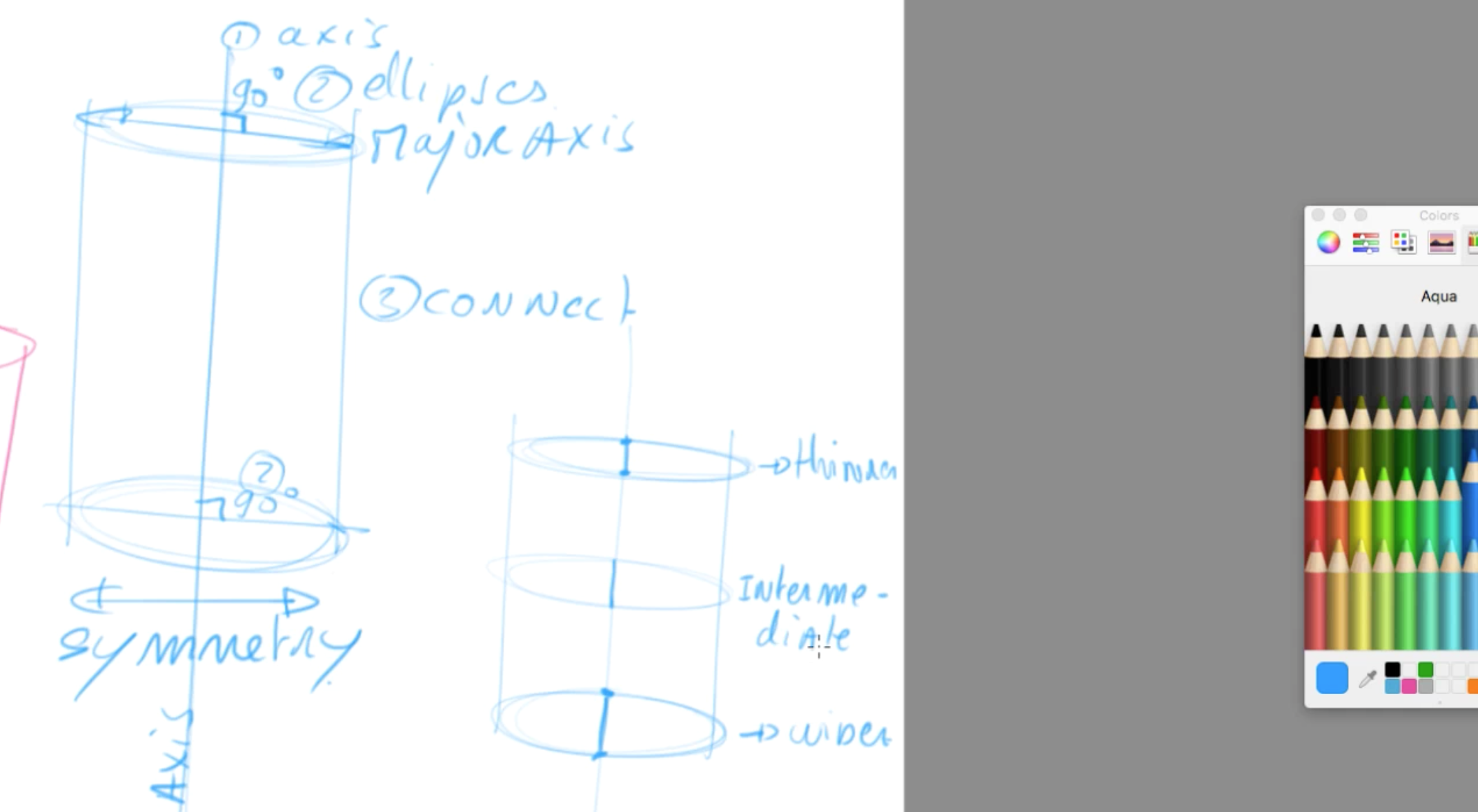 How to draw basic 3d volumes - cone - cube - cylinder - the design sketchbook - g