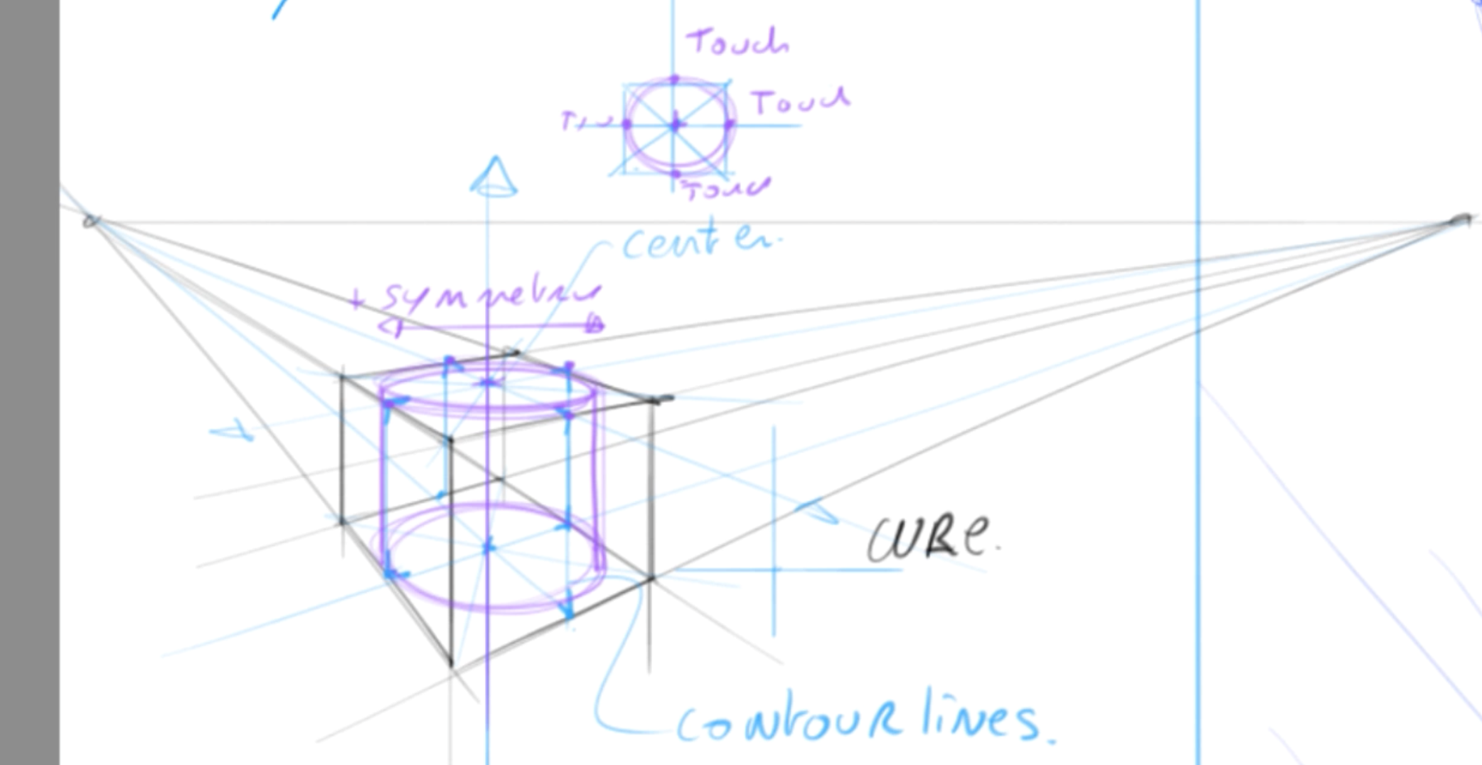 How to draw basic 3d volumes - cone - cube - cylinder - the design sketchbook - s