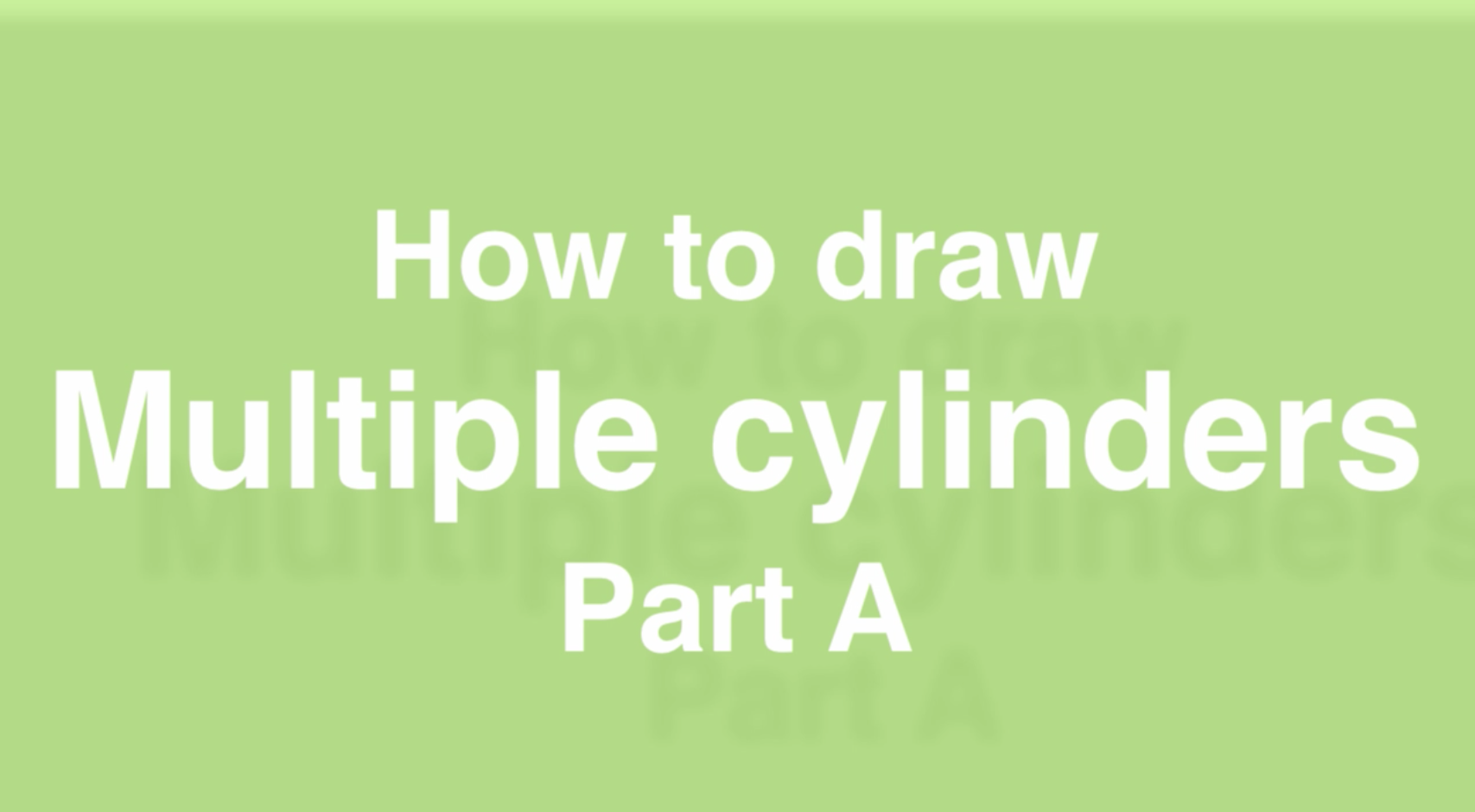 How to draw multiple cylinders- design sketching Part A e