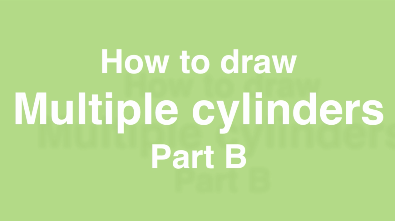 How to draw multiple cylinders- design sketching Part B a
