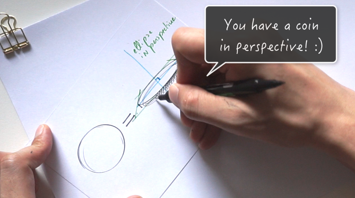 How to draw a coin The 1 miute tutorial-Industrial Design sketching-Blog f