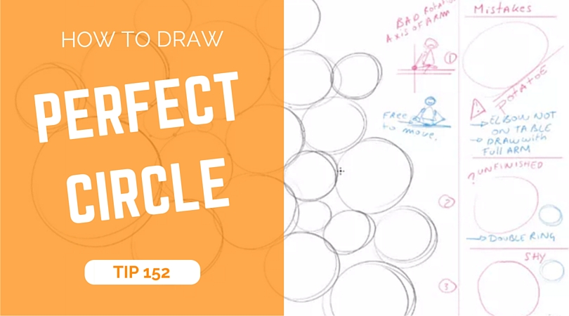 How to draw perfect circles | TIP 152 | VIDEO