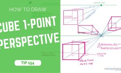 How to draw a cube with 1-point perspective | TIP 154 | VIDEO