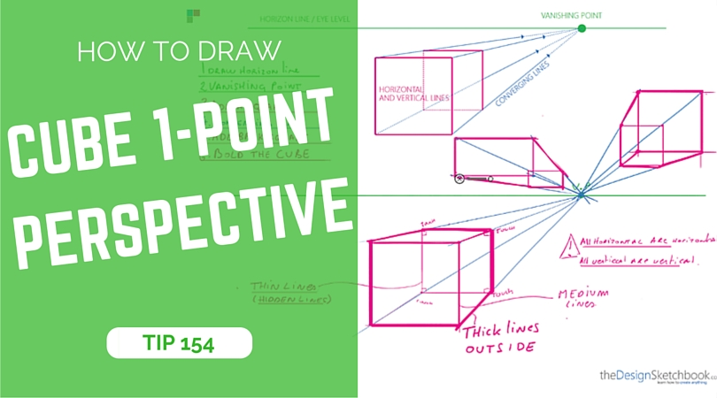 how to draw a cube in perspective