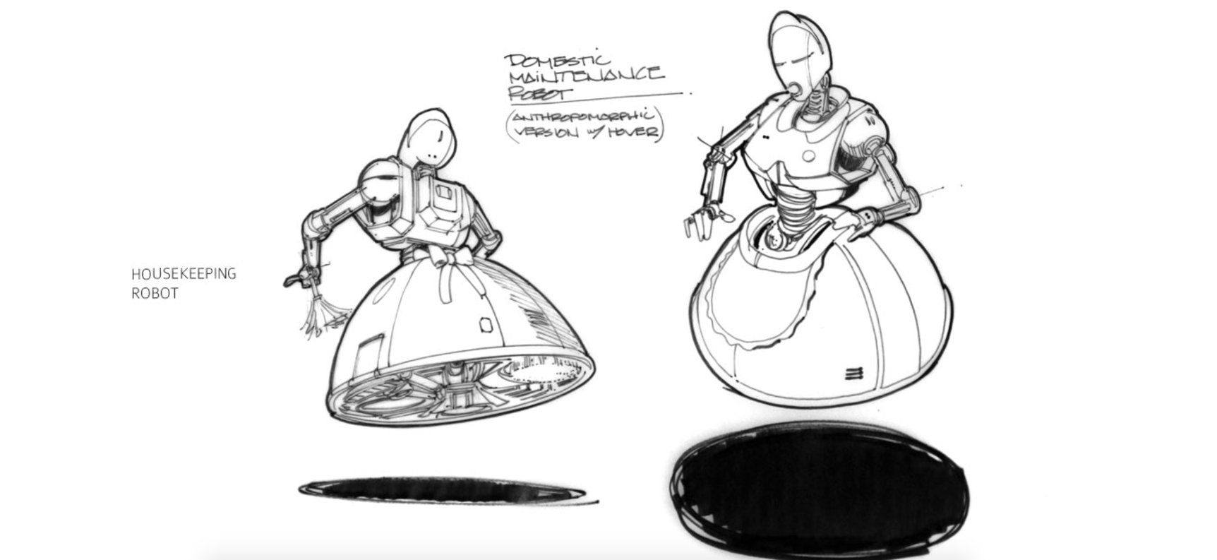 Edward Eyth Design sketching Back to the future II Housekeeping robot