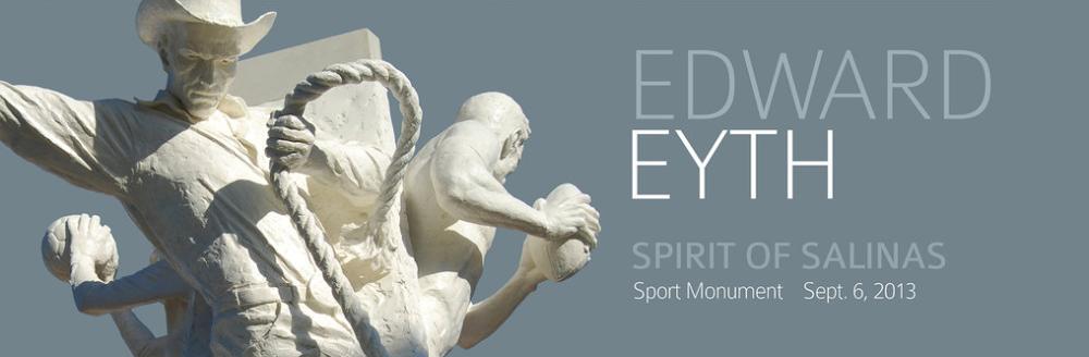 Edward Eyth Design sketching Sculpture cow boy spirit of salinas