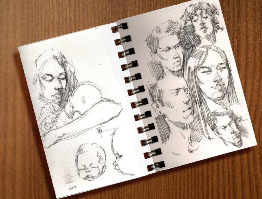 Edward Eyth Design sketching Sketchbook drawings