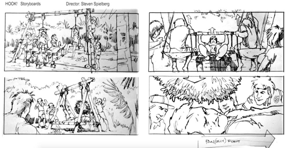 Edward Eyth Design sketching Steven Spielberg HOOK Storyboards