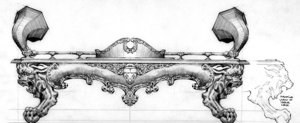 Edward Eyth Design sketching Steven Spielberg project Lion
