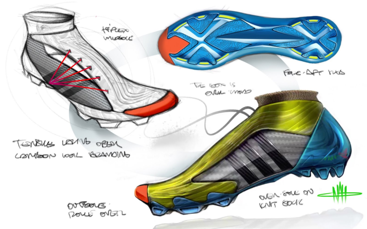 Noah Sussman Sports Product designer Footwear boost sketching