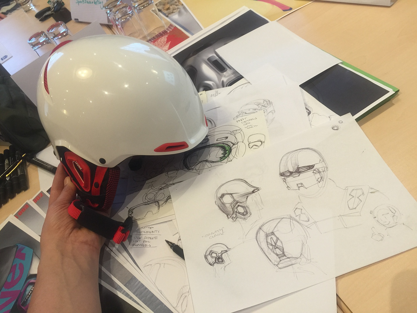 Noah Sussman Sports Product designer Uvex sports sketching helmet